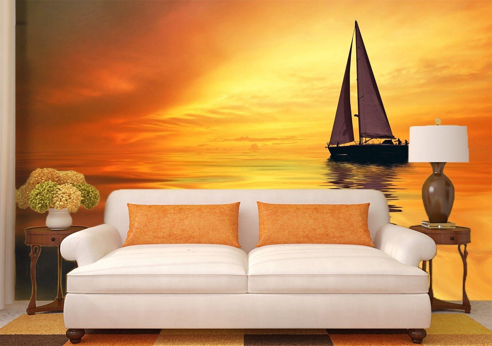 3D Ozean Segeln Himmel 988 Tapete Wandgemälde Tapeten Bild Familie DE Lemon