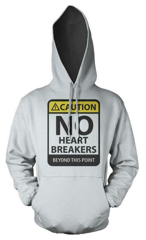 Caution No Heartbreakers Beyond This Point Adult Hoodie