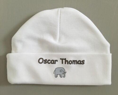 Personnalisé Unisexe Bébé Vêtements Babygrow Sleepsuit /& chapeau éléphant Bébé Cadeau