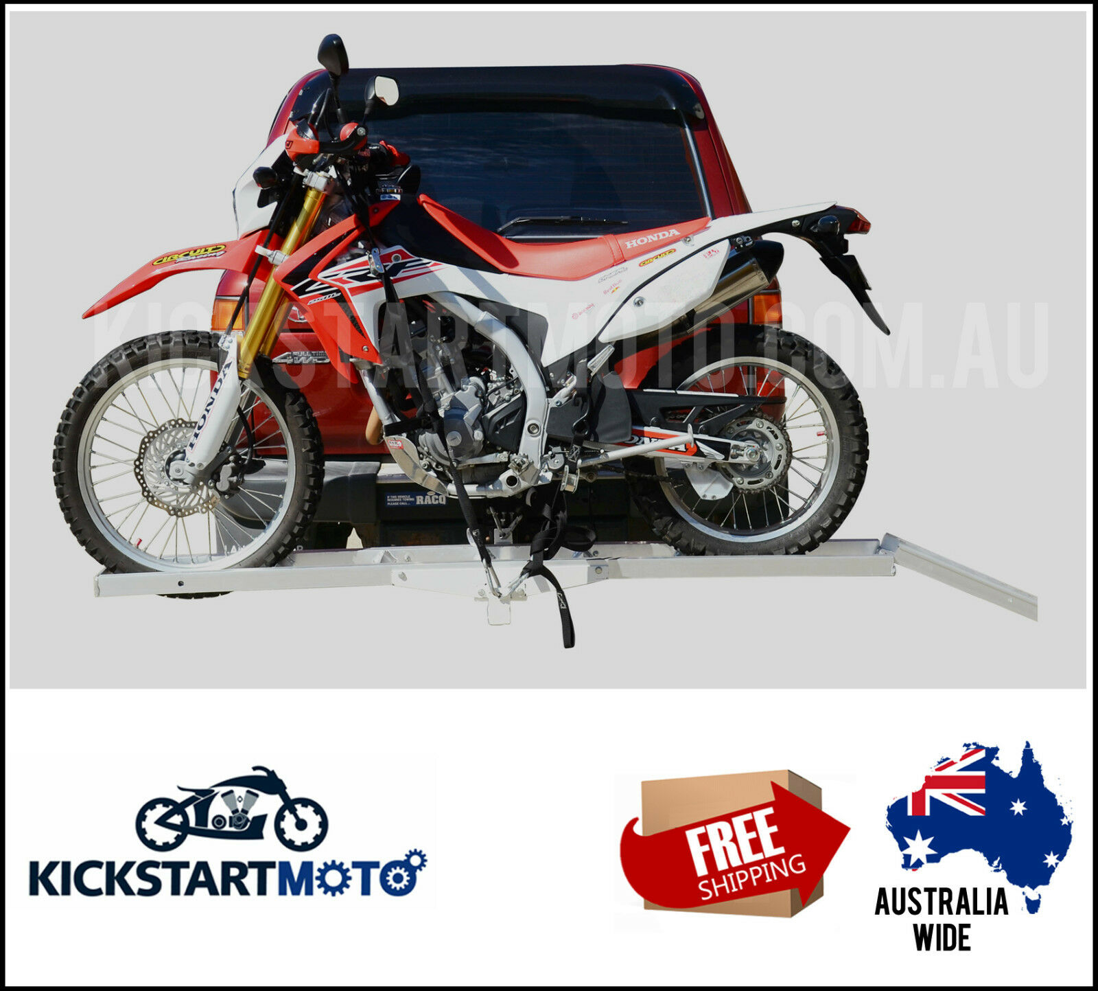 Motorcycle Carrier Rack and Ramp Motorbike Dirt Bike Tow bar Free ...