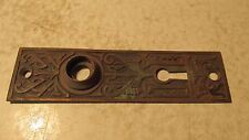 Antique Cast Brass Eastlake Door Plate  No. 13