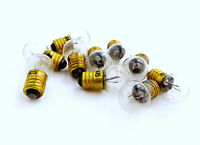 Lot Of 10 Ge 405 6.5 Volt Blinking Flasher Light Bulbs - For Toys - Experiments