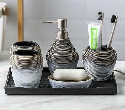 Handmade Ceramic Soap Dispenser, Bathroom Soap Dispenser And Toothbrush Holder