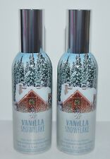 LOT OF 2 BATH BODY WORKS VANILLA SNOWFLAKE CONCENTRATED ROOM SPRAY PERFUME MIST