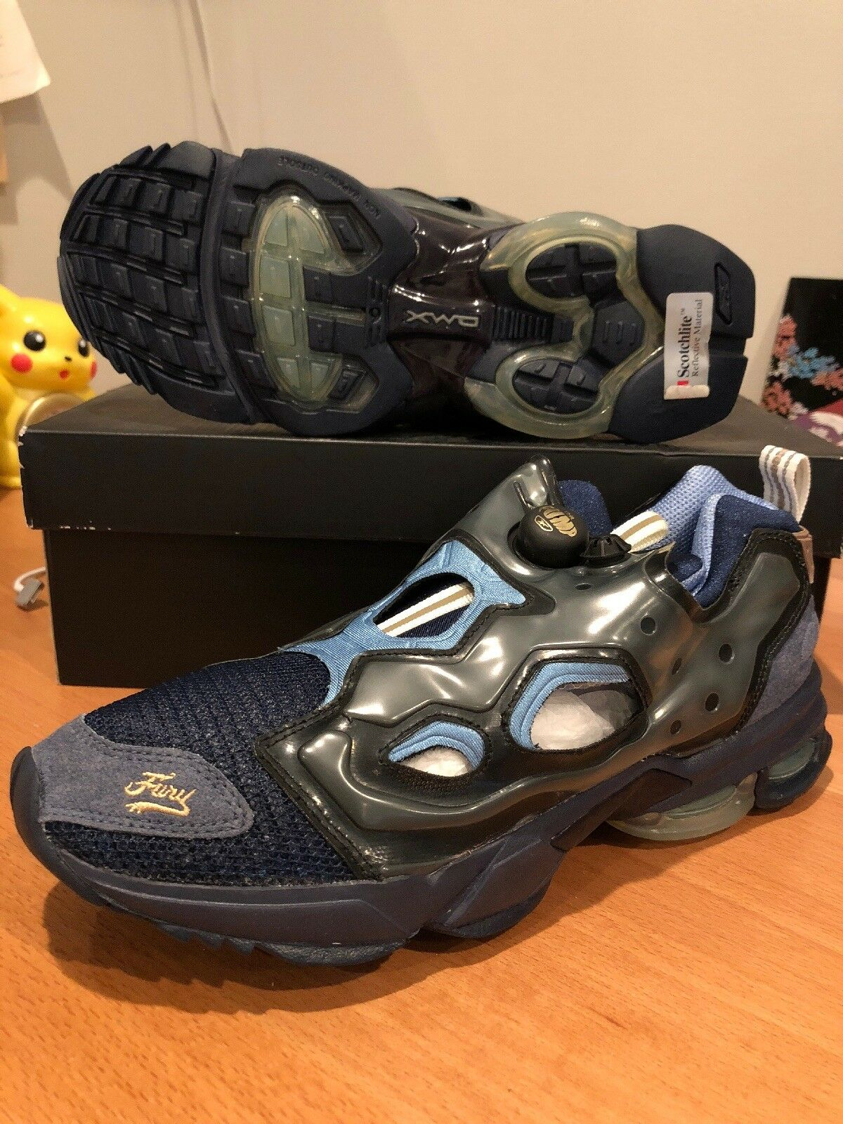 New Reebok Men Running Insta Pump DMX bluee Suede Hong Kong Japan Mita Sz 9.5