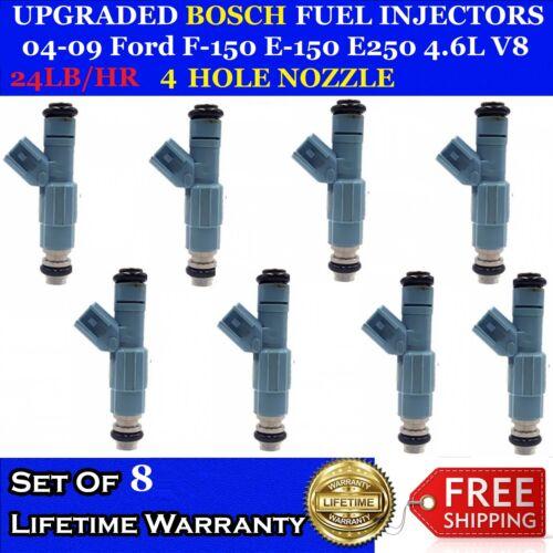 8x 24LB Upgraded Bosch Fuel Injectors 04-09 Ford F150 E150 E250 4.6L V8