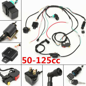 wiring harness kit for atv 50 70 90 110 125cc motorcycles atv electric dirt bike set cdi  50 70 90 110 125cc motorcycles atv