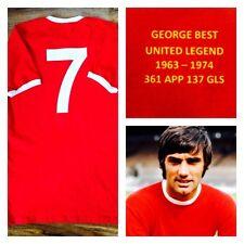 7 George Best Retro Manchester United Legend Replica Home Football Shirt Mens L