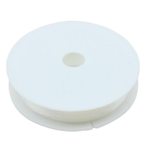 5X Gummischnur Schmuckdraht 0,4 mm//0,6 mm//0,8 mm//1mm  Durchsichtig Elastisch