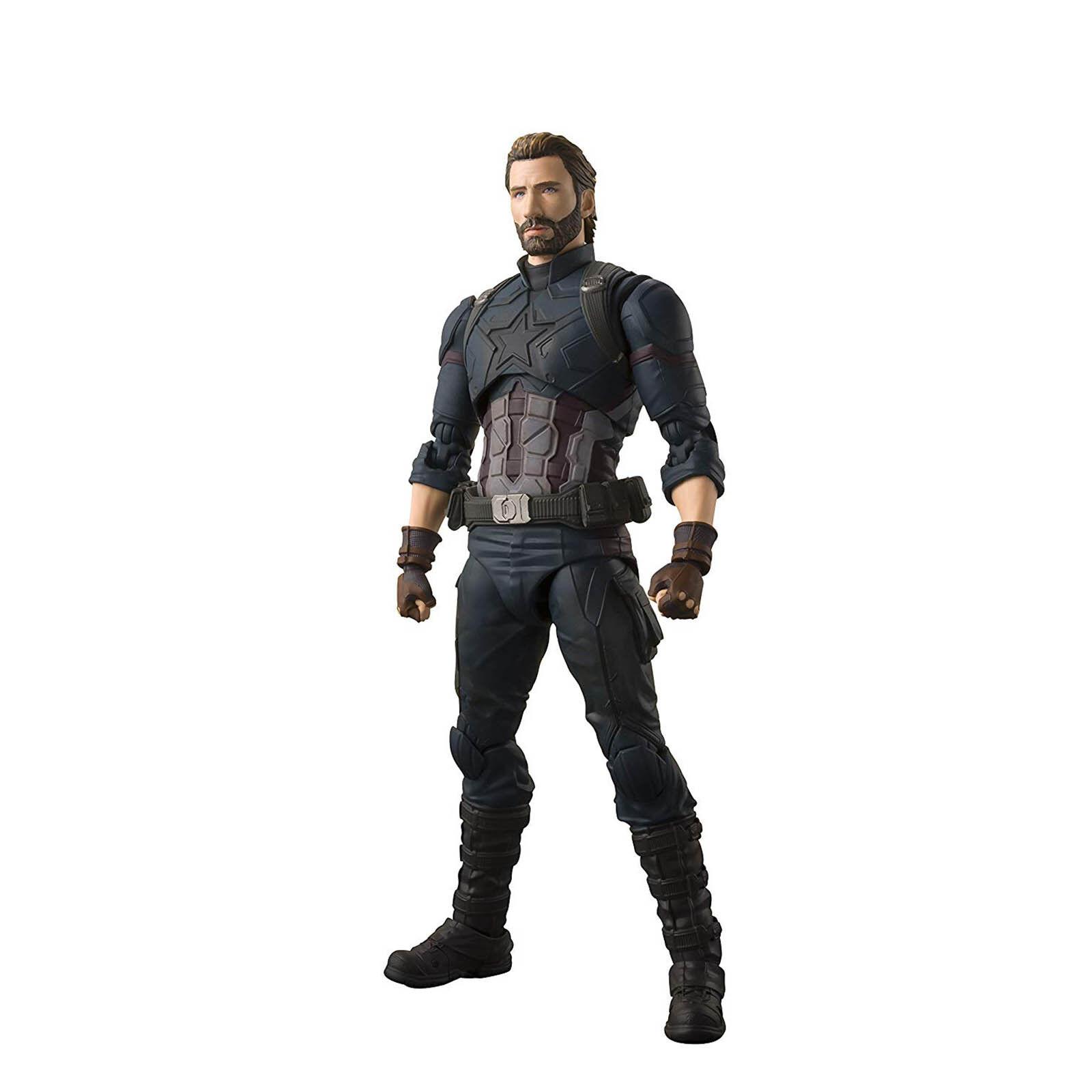 Bandai Vengadores Capitán América y efectos Figuarts Figura de Acción Juguetes Set Nuevo