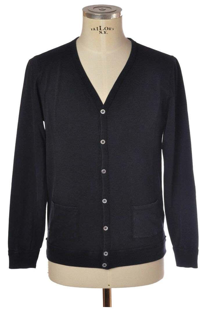 Alpha - Knitwear-Cardigan - man - Blau - 826518C180543