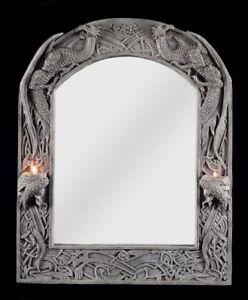 drachen spiegel mit teelicht o kerzenhalter gothic fantasy deko veronese ebay. Black Bedroom Furniture Sets. Home Design Ideas