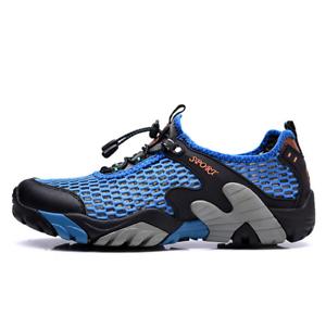 Homme-Exterieur-Respirant-Running-Gym-Sports-Randonnee-Marche-Maille-sandale-chaussure-nouveau-b