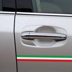 40cm x1.5cm Car PVC Italian Italy Flag Sticker Strip Decal Badge Bright Color