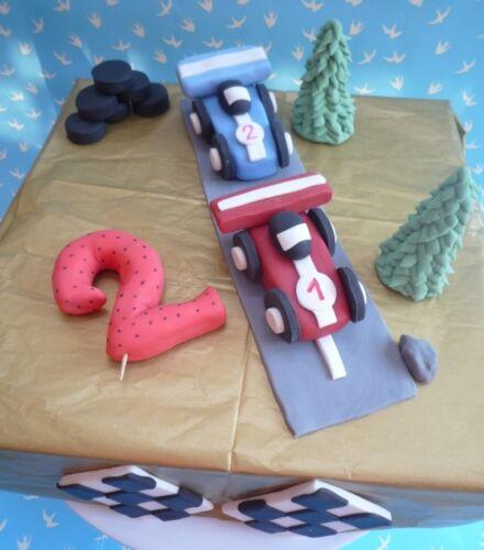 3D HANDMADE RACING CAR birthday topper F1 CAKE TOPPER