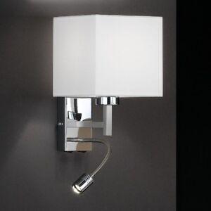Dettagli su Lampada da parete Cromato Applique Design Moderno Lampadario  Vetro LED NEW 32534