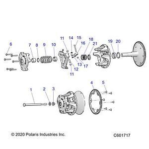 Qty 1 Left Genuine OEM Part 7043363 Polaris Driven Clutch Spring