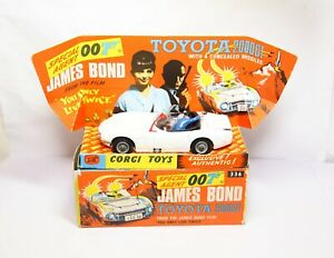 CORGI 336 James Bond TOYOTA 2000GT nella sua scatola originale-Quasi Nuovo Vintage 007