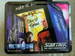 SIGNED Doctor Who / Star Trek: TNG Monitor Mates in Tin SDCC 2013 Exclusive