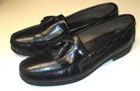 Vintage Towncraft Mens 12 D Kiltie Tassel Pinch Loafer black casual dress Shoes