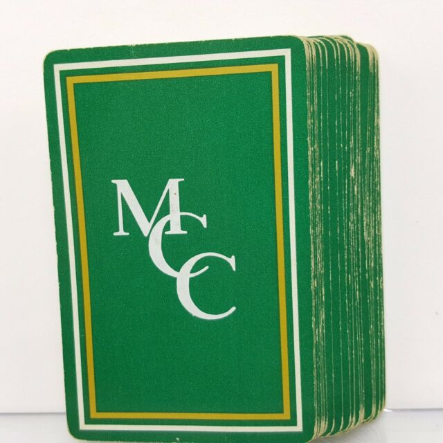 Green Monogram Playing Cards Gold MCC Gemaco Vintage Deck USA