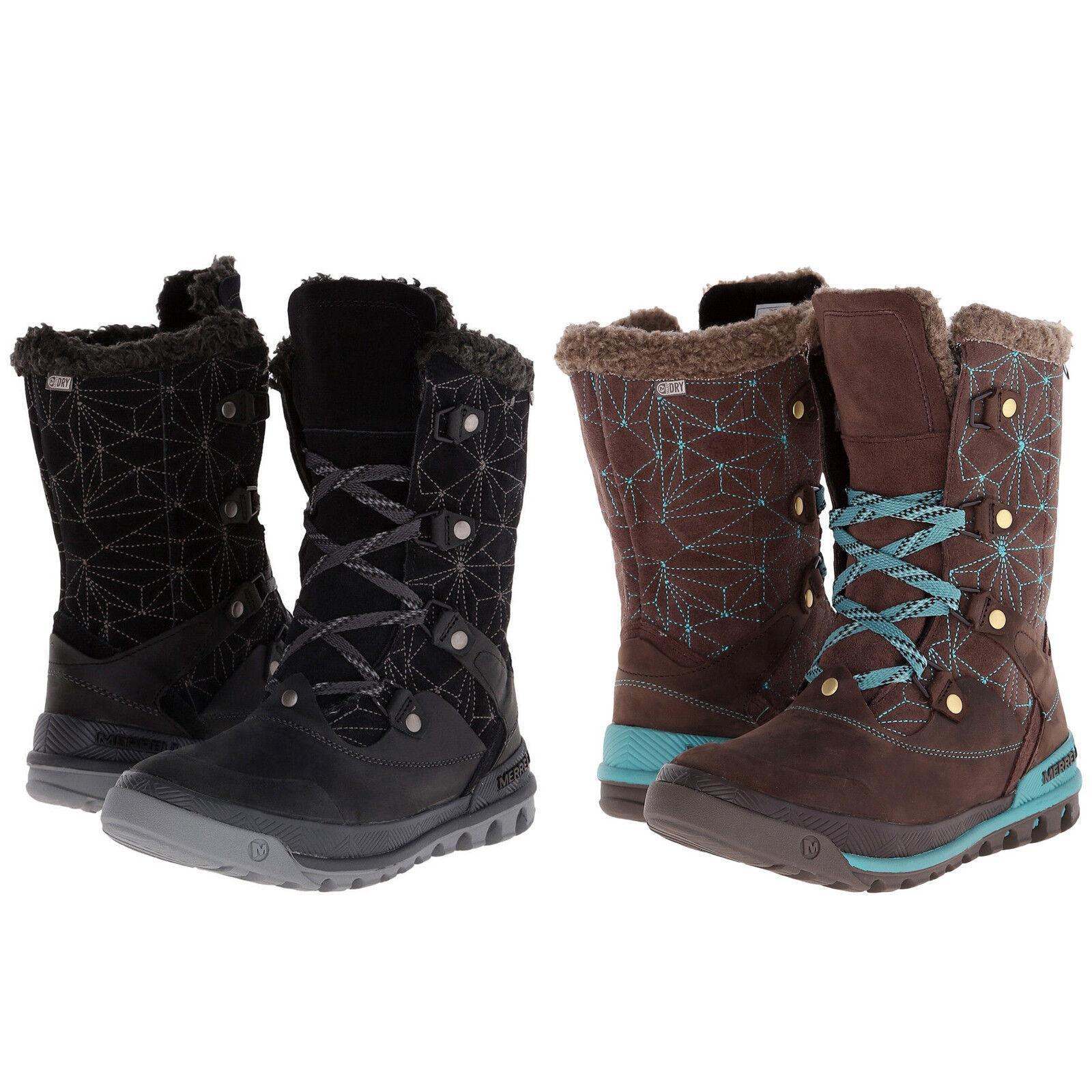 Merrell Damenschuhe Lace Silversun Lace Damenschuhe Up Side Zip Mid-Calf Waterproof Hiking Trail Stiefel 26dfbe