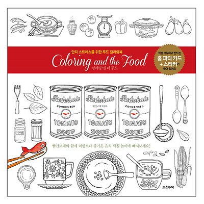 Coloring And The Food Anti Stress Colouring Book From Korea