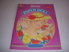 BARBIE PAPER DOLL Book, Golden Book #1523-2, 1990, Uncut!
