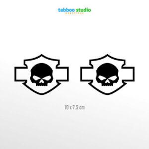 2-Aufkleber-Harley-Davidson-Skull-Helm-Logo-Aufkleber-Vinyl-Motorrad-Pegatinas