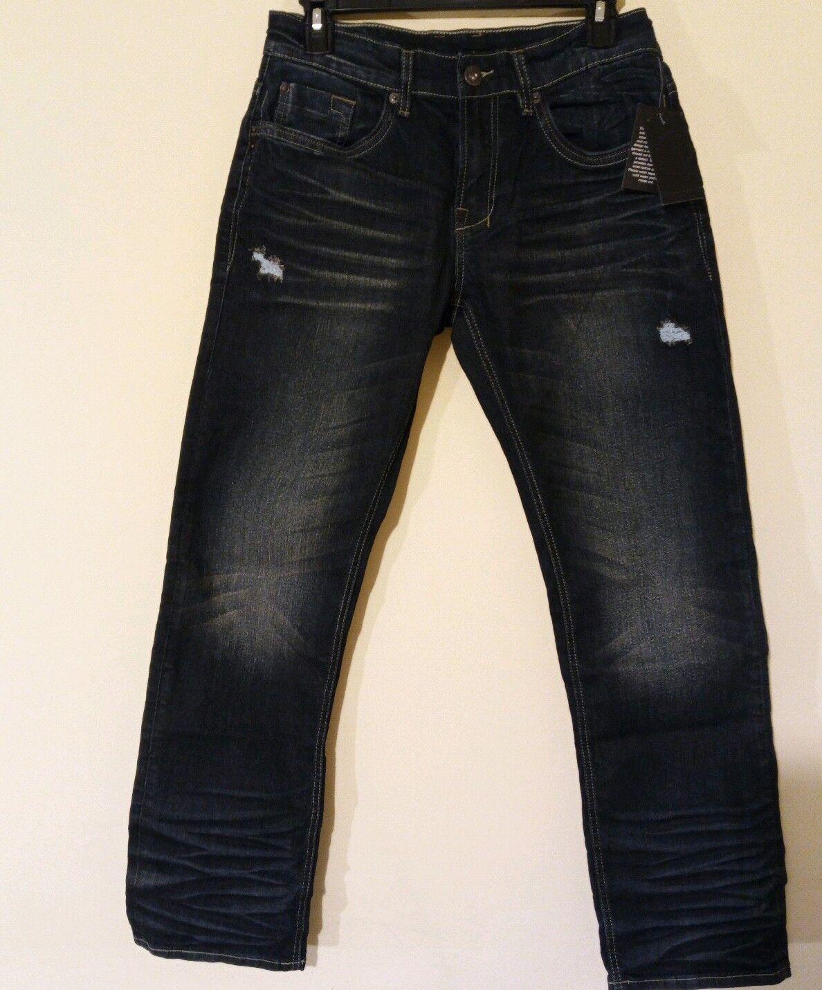 Mens New Buffalo David Bitton Evan X Slim Straight Jeans Indigo 30W 30L