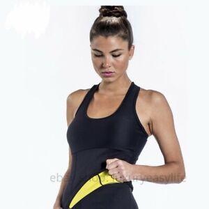 Hot Thermo Sweat Neoprene Body Shaper Slimming Waist Trainer Cincher Yoga Vest @