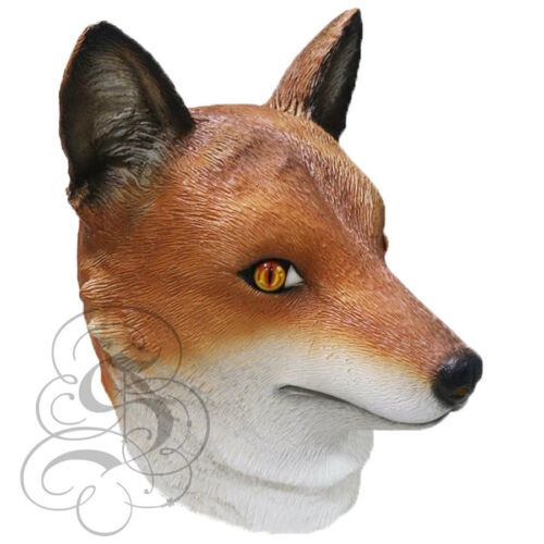 Latex Animal réaliste européenne Red Fox Fancy Dress accessoires Cosplay Carnaval Masque