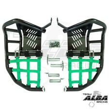 Kawasaki KFX 450 450R  Nerf Bars    Alba Racing  Black bar Green nets 188 T1 BG