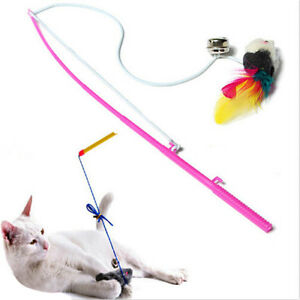 Durable-Pet-Cat-Bell-The-Dangle-Faux-Mouse-Rod-Roped-Funny-Fun-Playing-Toy-KW