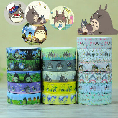 My Neighbor Totoro Japanese Washi Adhesive Stationery School Craft Tape DIY