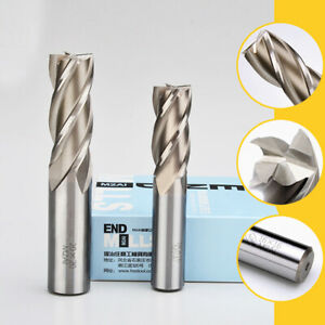 High Speed Steel HSS 4 Flute End Mill Cutter CNC Router Bits Cutting Milling