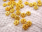 Gold 4mm Daisy Bead Cap Loose Beads for DIY Jewelry  500+  B002