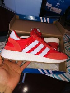 Image is loading Adidas-Iniki-Red-Gum-BY9728-Size-9-Excellent- 0200ba80d