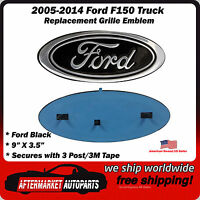 2005-2014 Ford F150 Black Oval 9 Front Grille Replacement Emblem Badge