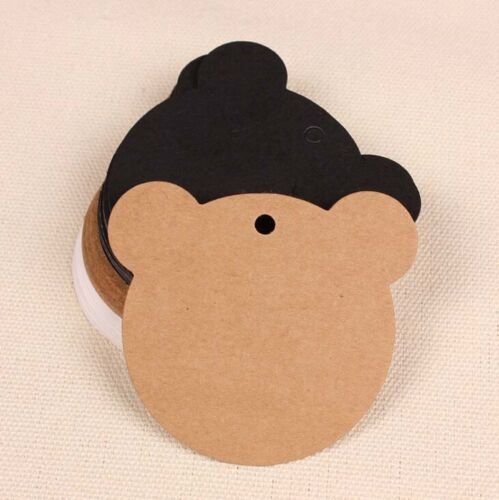100Pcs Blank Kraft Paper Hang Tags Wedding Party Favor Label Price Gift Card