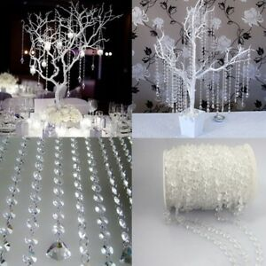 10M-Transparent-Acrylic-Crystal-Beaded-Hanging-Curtain-Fringe-Divider-Home-Decor