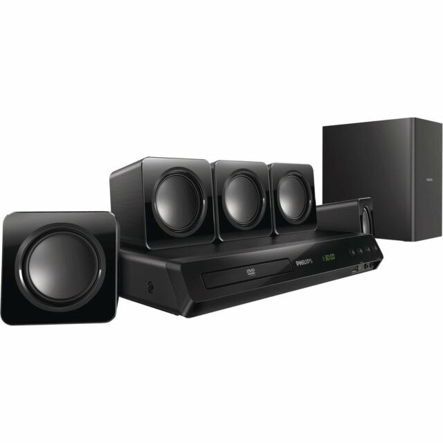 PHILIPS 5.1 DVD Compact Speaker Home Theater System HTD3510