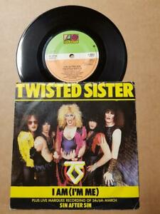 Twisted-Sister-I-Am-I-039-m-Me-Vinyl-7-034-45-RPM-Single-Sammlung-Metal-Rock-Glam