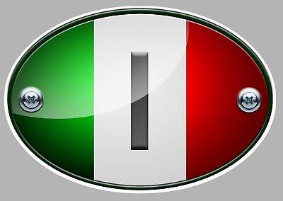 PINUP DRAPEAU ITALIE DUCATI VESPA FIAT 7,5cm AUTOCOLLANT STICKER AUTO MOTO PB495