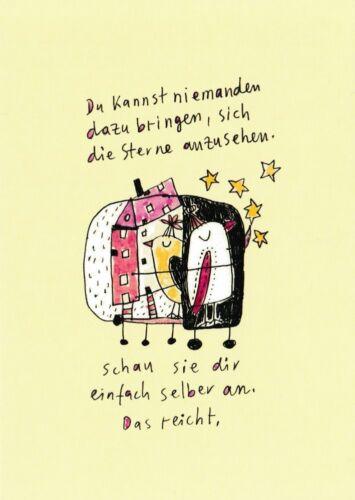 """sich die Sterne .../"""" Postkarte Besinnliches /""""Du kannst niemanden dazu bringen"""