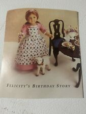 American Girl DOLL FELICITY PINNER APRON PAMPHLET CARD Pleasant Company