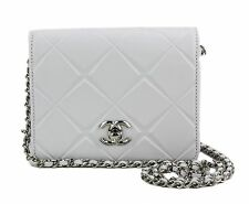 Chanel White Leather Mini Propellor Square Flap Crossbody Bag
