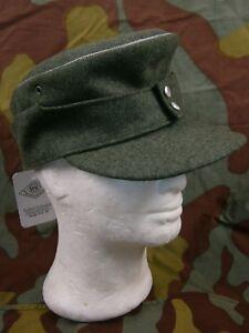 1fa9fcc349c La foto se está cargando Feldmutze-M43 -Sombrero-oficial-aleman-WH-oficial-aleman-