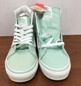 35671dd88c Vans Sk8-Hi Slim Gossamer Green Off White 3.5 M US Big Kids ...