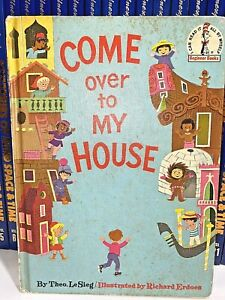 Come over to My House Book by Dr. Seuss -Theo, 1966 Vintage BC Edition HC